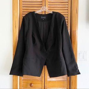 Eloquii Black Collarless Blazer Jacket
